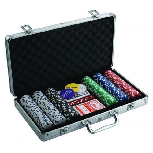 Покерный набор на 300 фишек с номиналом