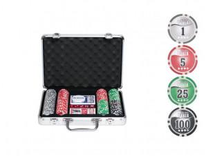 Покерный набор на 200 фишек с номиналом изображение 0
