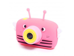 Фотоаппарат пчёлка розовый изображение 1