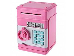 Копилка сейф розовая