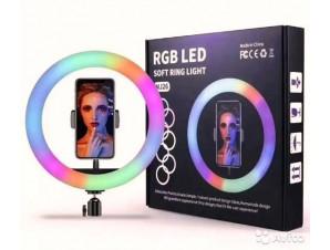 Кольцевая Led Лампа RGB 26 см.