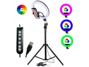 Кольцевая Led Лампа 35 см RGB. Цветная