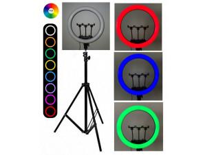 Кольцевая Led Лампа 35 см RGB. Цветная изображение 0