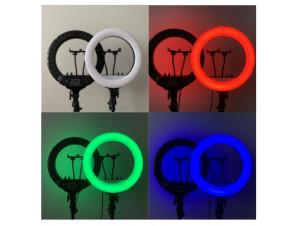 Кольцевая Led Лампа 35 см RGB. Цветная изображение 2