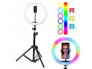 Кольцевая Led Лампа RGB 26 см. изображение 1