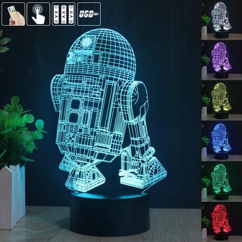 3д светильник робот R2