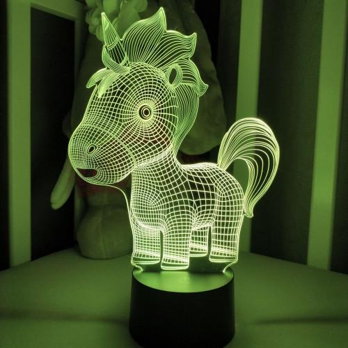 3D светильник  Единорог малютка
