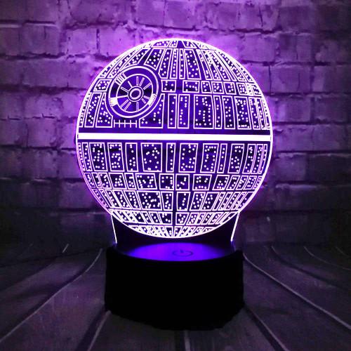 3D светильник Star wars звезда смерти