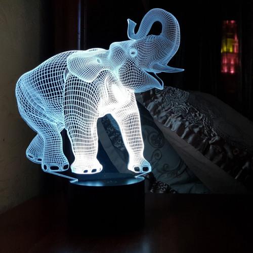 Светильник 3d Слон