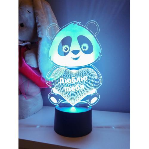 Светильник 3d Панда