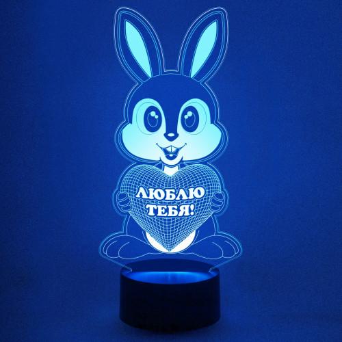 3D светильник зайчик