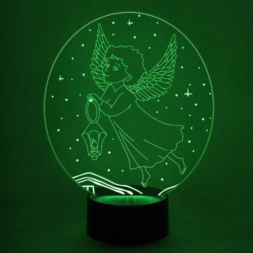 3D светильник ангел