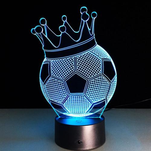 3D светильник  Футбольный мяч