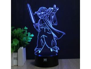 Ночник Йода с мечом изображение 1