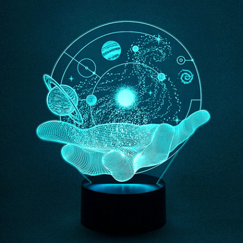 3D светильник вселенная