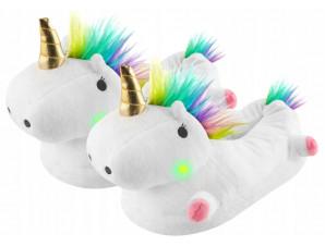 Тапочки Единорог Радужный белый
