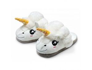 Тапочки Единорог белый