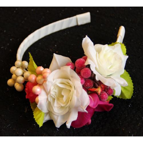 Ободок Белые Розы
